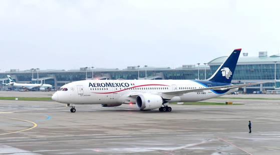 인천공항에 착륙한 아에로멕시코 B787-800(드림라이너) 항공기. [사진 아에로멕시코]