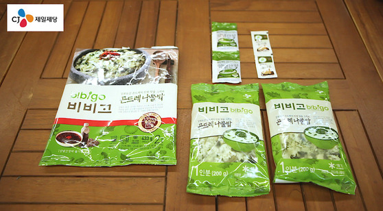 CJ제일제당 '비비고 곤드레나물밥'.곤드레나물밥과 양념간장, 들기름이 들어있다. 가격은 5980원. 송현호 인턴기자