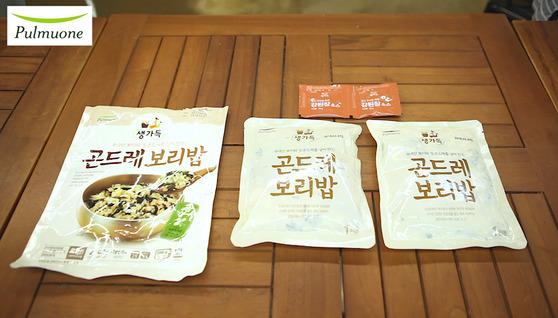 풀무원 '생가득 곤드레보리밥'.곤드레보리밥과 강된장소스가 들어있다. 가격은 5280원. 송현호 인턴기자