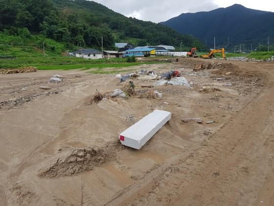 지난 16일 충북 청주시에 290㎜ 달하는 폭우가 내리면서 상당구 월오동 마을 농경지가토사로 뒤덮였다. 최종권 기자