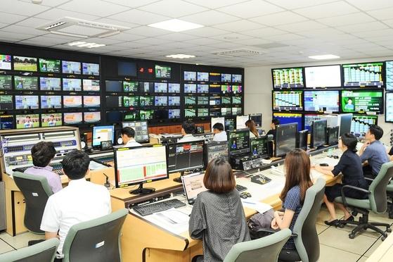한국 마사회 국제방송실 모습. [사진 한국마사회]