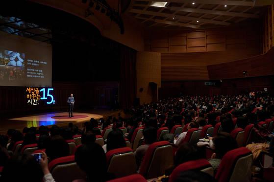 세바시에서는다양한 각 분야의 강연자들이자신만의 이야기를 청중들한테 전한다. [사진 세바시]