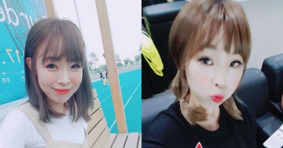 네티즌들의 뜨거운 반응을 불러온 예뻐진 오나미의 사진.[사진 오나미 인스타그램]