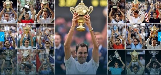 로저 페더러. 메이저 대회 우승 19회. [사진 ATP 홈페이지]