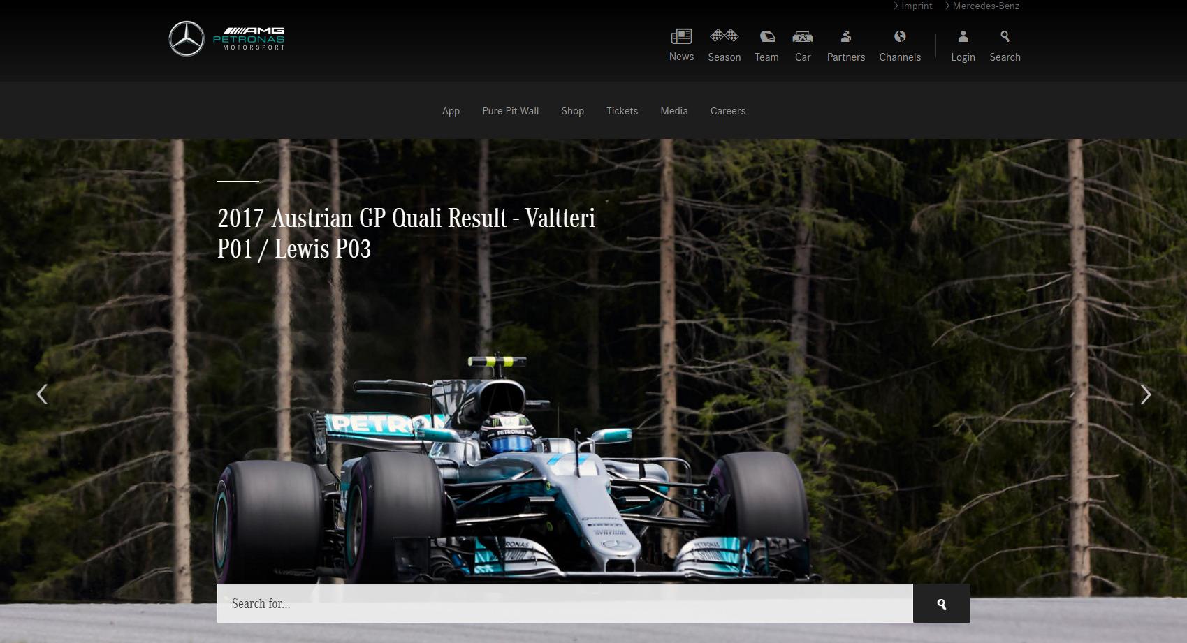 [사진 메르세데스 AMG 페트로나스 F1 홈페이지]