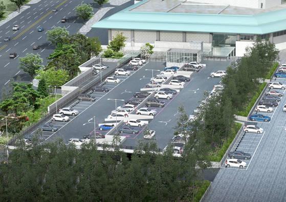 10월 말 완공 예정인 서울 예술의전당 음악당 주차장의 예상 조감도. 지상 주차장이 한 층 올라온다. [사진 예술의전당]