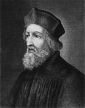 보헤미아(체코)의 종교개혁가 얀 후스.