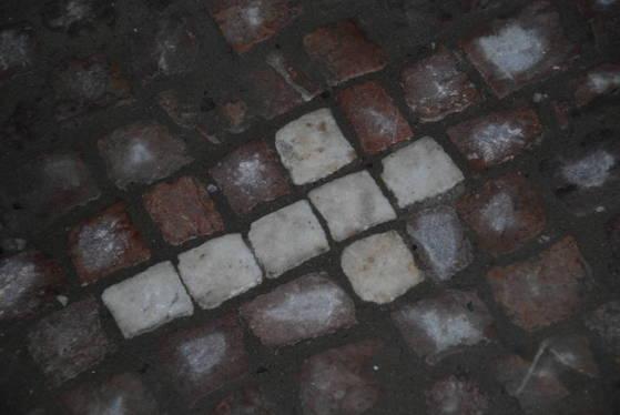 프라하 광장에는 바닥에 벽돌로 십자가가 박혀 있다. 후스 당시 종교개혁을 주장하던 프로테스탄트들이 화형을 당했던 자리마다 이렇게 십자가가 하나씩 새져겨 있다. 그들 역시 후스의 가르침을 따르던 이들이었다.