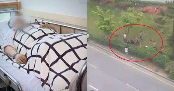 """광주 집단 폭행 사건의 피해자 정모(31)씨 측 김경은 변호사가 21일 """"피해자 눈 안쪽 깊은 곳에서 나뭇가지 파편이 남아있어 이를 제거했다는 설명을 병원 측으로부터 들었다""""고 밝혔다. [사진 JTBC '뉴스룸']"""