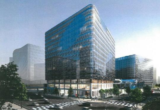 경기도 성남시 판교에 있는 알파6-4빌딩. 신한알파리츠는 이 빌딩에 입주한 네이버·블루홀 등과 10년 임대차 계약을 했다.