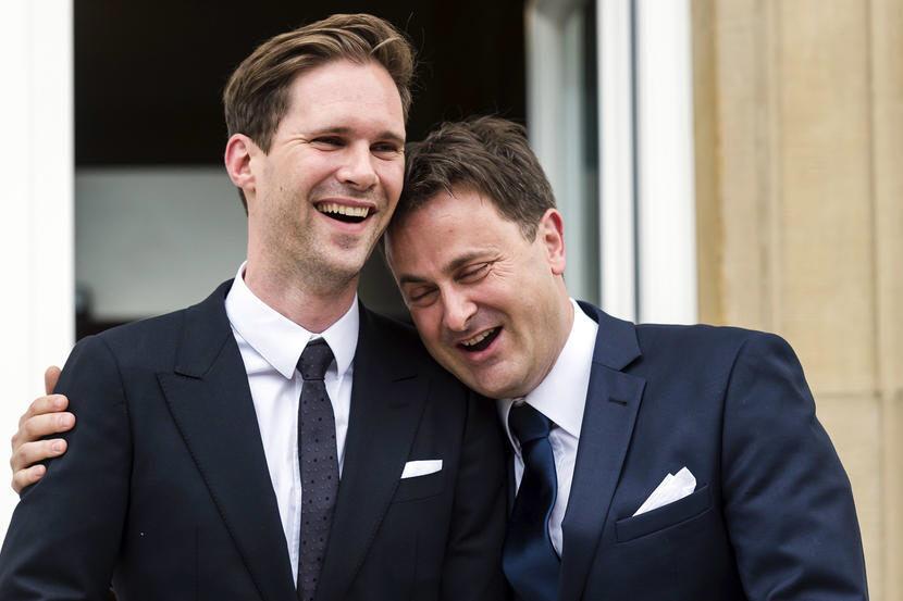 자비에르 베텔 총리(오른쪽)와 고티에르 데스티네이는 지난 2015년 결혼했다. [AFP=연합뉴스]