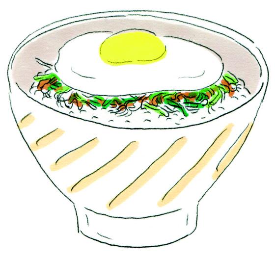 노석미 작가의 책 '먹이는 간소하게'에 나온 달래달걀밥. [사진 사이행성]