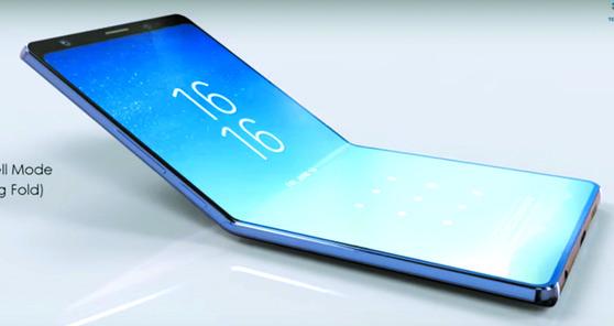 삼성, 화면 접는 폴더블폰 내년초 시판 … 프리미엄 새 시장