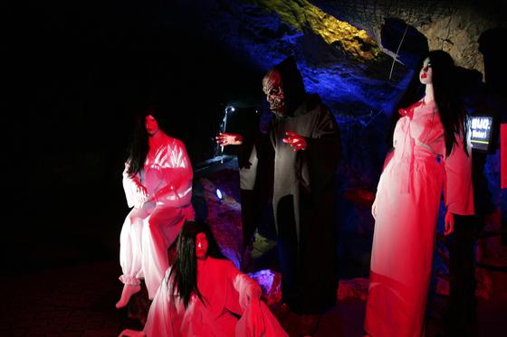 야간공포체험을 즐길 수 있는 정선 화암동굴. [사진 정선군]
