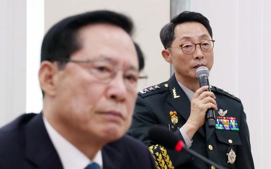 송영무 국방, 기무사 문건 잘못 아니라고 말했다