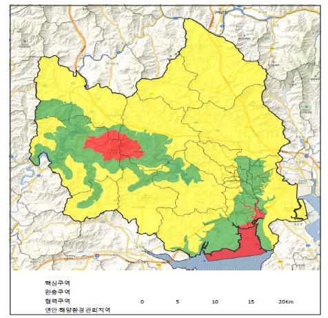 순천 생물권보전지역 지정 지도 [자료 환경부]