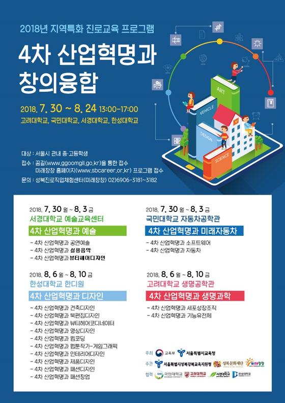 서경대학교 예술교육센터 '2018년 지역특화 진로체험 프로그램' 개최