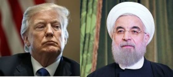 도널드 트럼프 미국 대통령(왼쪽)과 하산 로하니 이란 대통령. [중앙포토]