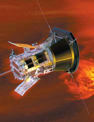 태양에 접근한 탐사선의 상상도