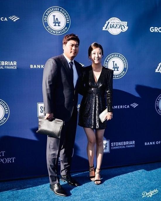 류현진-배지현 부부, LA다저스 행사 참석 - 일간스포츠