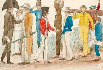 에드워드 클로스, '오스트랄아시아 인들의 복장', 1817년