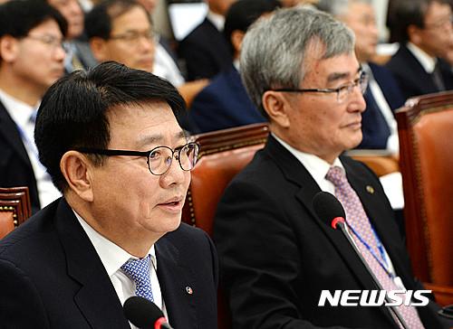 [2016국감]질의에 답하는 김정래 한국석유공사 사장