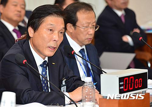 [2016국감] 답변하는 이상권 한국전기안전공사 사장
