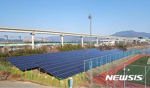 부산교통공사, 대저차량기지 태양광 발전소 완공