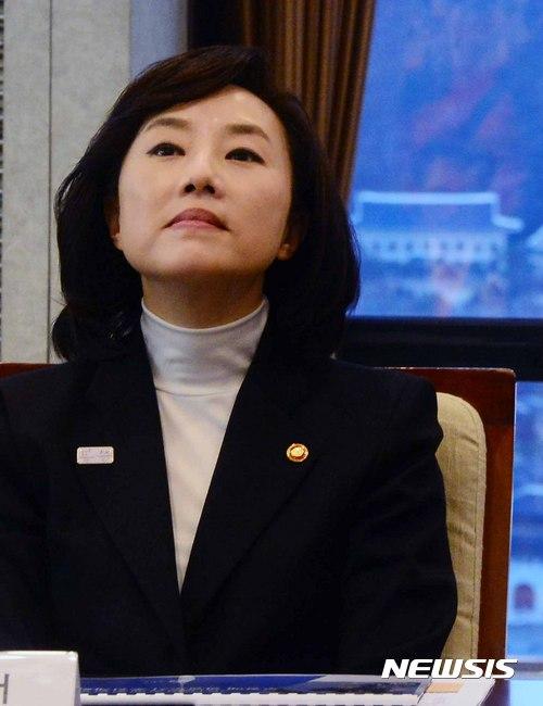 조윤선 문체부 장관과 청와대
