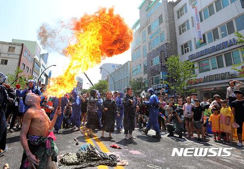 춘천마임축제, 화려한 불쇼
