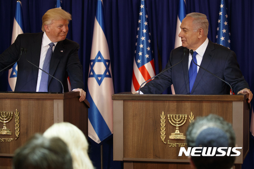 """트럼프 """"이스라엘, 평화 원하면 팔레스타인과의 교착상태 해결하라"""""""