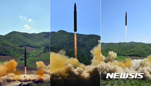 """미 국방부 """"북한, ICBM 발사"""" 인정"""