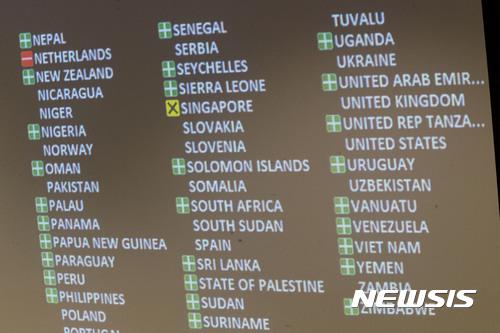 [종합]유엔, 핵무기금지조약 채택···핵보유국·北 모두 불참