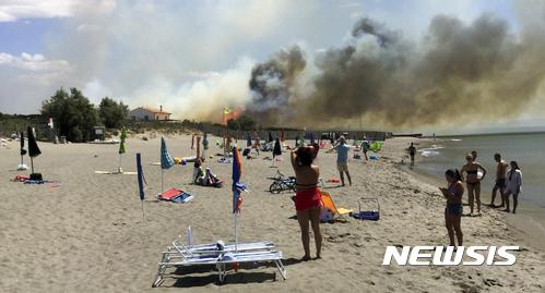 이탈리아·크로아티아·몬테네그로 등 유럽 곳곳 산불