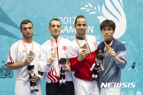 한명진 삼순데플림픽 유도 동메달