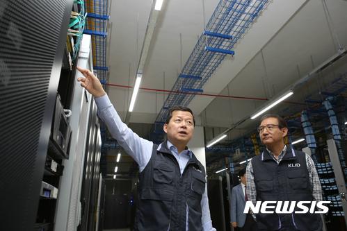 한국지역정보개발원 찾은 심보균 행안부 차관