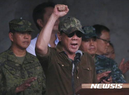 [국제핫이슈]두테르테, IS 추종단체 점령 마라위서 '승전' 선언