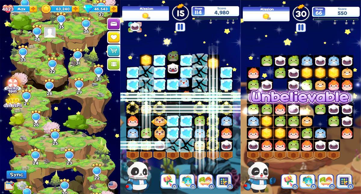 한국게임과학고 학생들이 만들어 해외 업체 GameView (말레이시아)와 수출 계약한 판다리아 팝(가제).