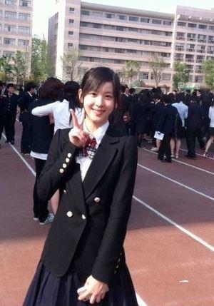 장쩌텐 고등학교 졸업사진. [사진 온라인 커뮤니티]