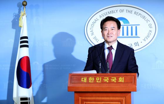 정동영 국민의당 의원이 6일 오후 국회 정론관에서 기자회견을 열고 당대표 출마를 공식 선언했다. 박종근 기자