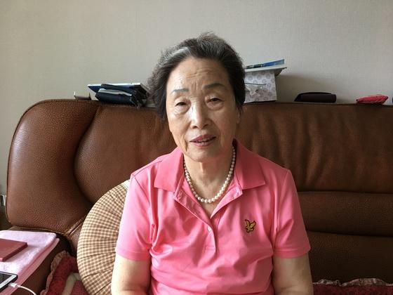 어릴 적 일본 히로시마에 살다가 원폭 피해를 당한 조옥이(80ㆍ여)씨. 하준호 기자