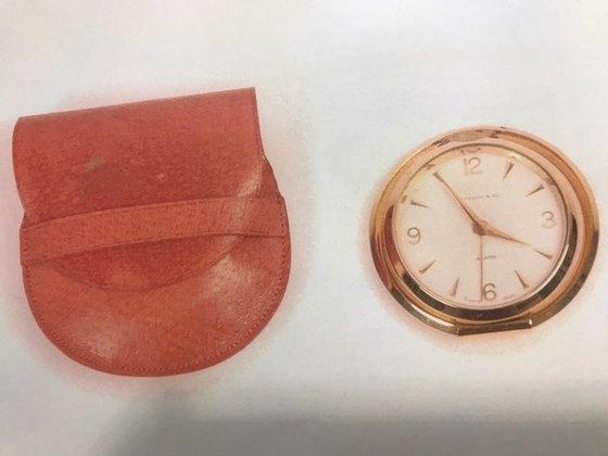박정희 전 대통령의 유품. 티파니 시계. [사진 독자제공]