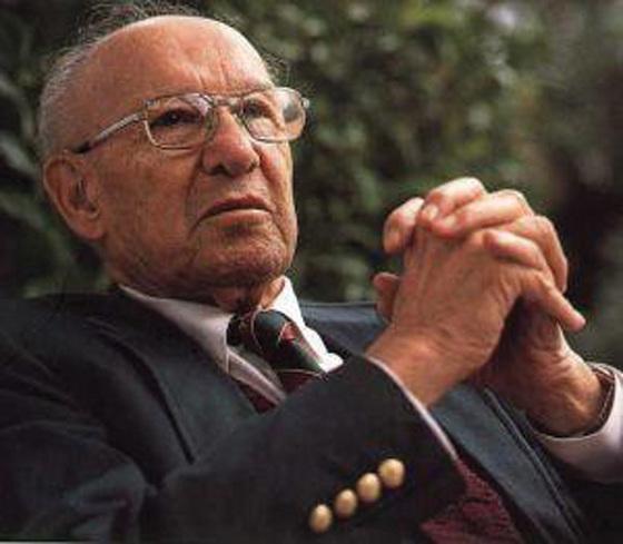 미국의 경영학자 피터 드러커. [중앙포토]