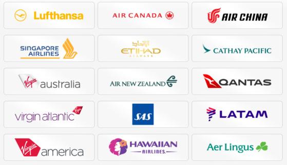캐세이패시픽, 싱가포르항공, 루프트한자 등 한국인이 많이 타는 항공사가 '플러스그레이드'와 제휴를 맺고 비즈니스 좌석을 경매로 판매한다. [사진 플러스그레이드 홈페이지 캡처]