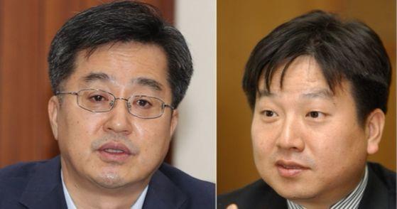 (왼쪽)김동연 경제부총리, 김철균 한국인터넷전문가협회장. [연합뉴스, 중앙포토]