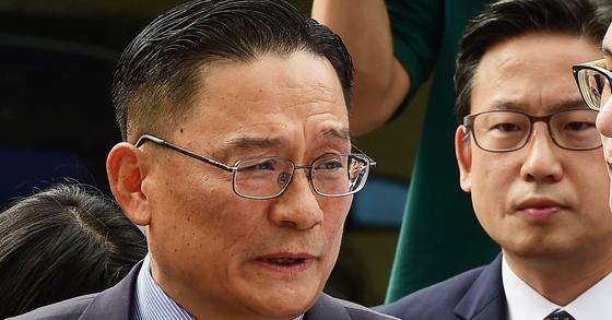 지난 8일 군 검찰에 출석하는 박찬주 육군 대장. [연합뉴스]
