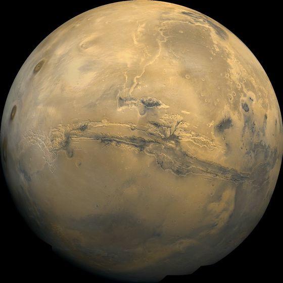 화성. 러브록은 생물이 없는 지구는 화성과별차이가 없을 것이라고 생각했다.