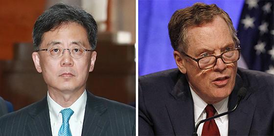 김현종(左), 라이트하이저(右)