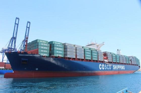 중국 해운사 코스코가 운영하는 컨테이너선. [중앙포토]