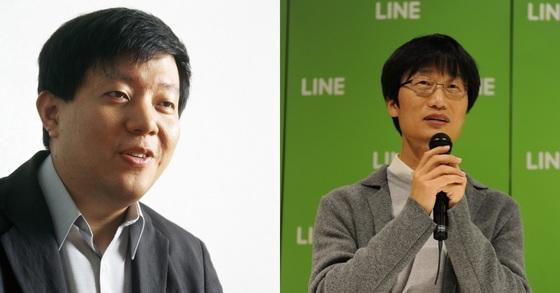 이재웅 다음 창업자(왼쪽)와 이해진 네이버 창업자. [중앙포토]